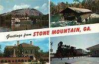 Postcard Greetings From Stone Mountain Georgia