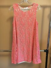 NEW Women Cute Casual Socialite Lace Pink Dress Size XL