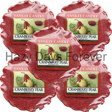 5 YANKEE CANDLE WAX TARTS MELTS Cranberry Pear BUY 2+ SAVE 20% fruity scented