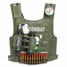 Kids Army Fully Loaded Combat Camo Assault Vest Roleplaying Tactical Costume