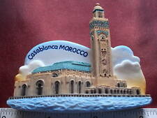 Casablanca Morocco Hassan Mosque Refrigerator 3D Fridge Magnet