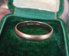 Attractive 9ct Rose Gold Wedding Band Ring  -  size O