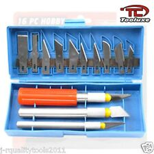 16 PC HOBBY KNIFE ART & CRAFT BOX SET CUTTER TOOL NEW