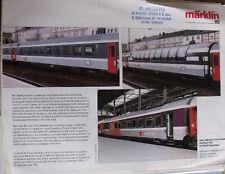 Depliant Marklin 1994 in scala H0 Carrozze EuroCity - ITA - Tr.3