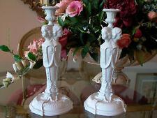 Gorgeous KPM RPM Three Ladies Deco Style Candlesticks
