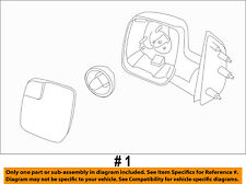 FORD OEM E-350 Super Duty Door Side Rear View-Mirror Assy Right AC2Z17682AA