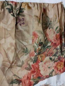 Ralph Lauren Large Florals Neutral Linen Like King Bed skirt New