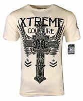 XTREME COUTURE by AFFLICTION Men T-Shirt FAITH & TRUST Biker MMA GYM S-4X