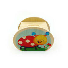 """Hess 14555 Children Money Box """" Frog and Beetle """" Wood Ore Mountains New! #"""