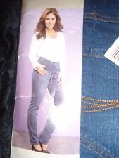 Indigo, Dark wash High Rise Plus Size L30 Jeans for Women