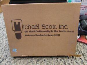 """vintage michael scott inc fine leather goods vintage briefcase 16-1/2 x 11-1/2"""""""
