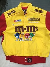 Men's Jacket M&M's Racing Ken Schrader NASCAR 36 Red Yellow Size XL