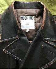 MOSCHINO Jeans Faux Leather Vintage style Jacket