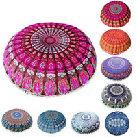 Mandala Floor Pillows Indian Tapestry Bohemian Throw Meditation Cushion Cover US