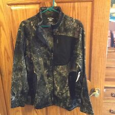 Men's Reel Legend Camo/Black Lightweight Zippered Jacket Size Small NWT