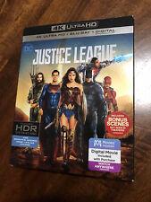 Justice League (Blu-ray Disc, 2018, 4K Ultra Hd Blu-ray/Blu-ray)