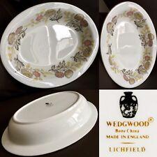 "Vintage Wedgwood Lichfield Fine Bone China 10""/25cm Deep Oval Serving Bowl"