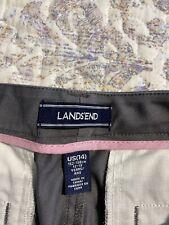 "🎼LANDS END School Uniform Pencil Leg Chino Pants Girls ~ Size 14/25"" Inseam #8"