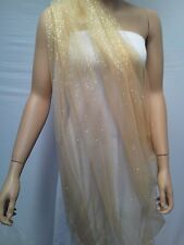 GOLD GLITTER TULLE  FABRIC : $6.99 P/ M : #RBMT9