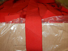 """10 YARDS 2"""" WIDE KNITTED ELASTIC COLOR: RED   PN: 43HS - MADE IN USA"""