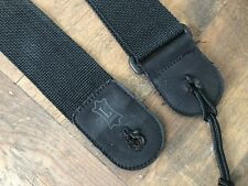 "2"" Levy's Black Guitar Strap"