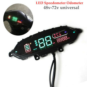 48V-72V Electric Bicycle Scooter Meter Odometer Control Panel Display Plastic
