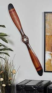"""48X5"""" Two Blades Wood Airplane Propeller Vintage Wooden Model Aviation Decor"""