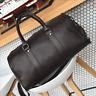 Mens Brown Travel Overnight Luggage Gym Duffel Shoulder Bag Large Soft Handbag