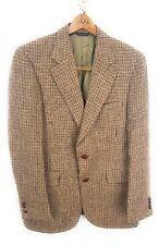 Vintage HARRIS TWEED 40R Earthy Brown Wool Hacking Jacket Sport Coat Blazer