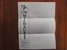 MARY ANN KELLING Signed Letter-1985 Wisconsin-Milwaukee Women's Basketball Coach