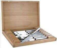 ZWILLING J.A. Henckels 8-pc Stainless Steel Steak Knife Set w/ Wooden Case NEW