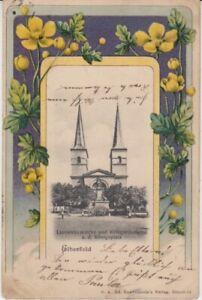 Ansichtskarte Nordrhein Westfalen Elberfeld Laurentiuskirche + Kriegerdenkmal