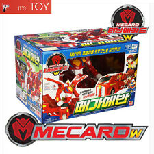 Turning Mecard W MEGA EVAN Red Great Transformer Robot Car Toy Jumbo Mecarnimal