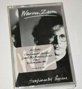 WARREN ZEVON – Sentimental Hygiene < 1987 1ST US issue cassette SEALED w/ hype