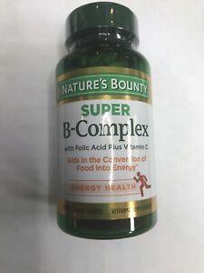 NATURE'S BOUNTY SUPER B COMPLEX(150 Coated Tablets ) W/Vitamin C/Exp. 01-23