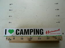 STICKER,DECAL LARGE STICKER IS FOLDED I LOVE CAMPING HAINAUT CARAVANING CENTER