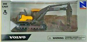 """New Ray 5"""" 1/64th Scale Volvo EC140E Construction Excavator"""
