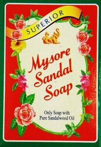 3 BARS! Mysore Sandal Soap 150grams EXPORT QUALITY FREE SHIPPING