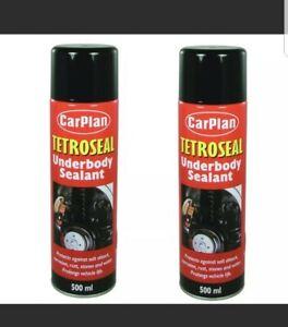 2x Carplan Tetroseal Aerosol Underbody Sealant Car Underseal Spray 500ml TSL505