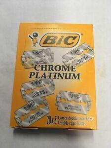 Bic Chrome Platinum Double Edge Razor Blades 100 PCS FREE SHIPPING!