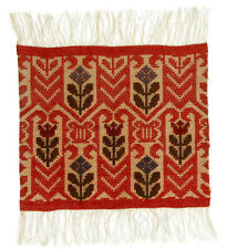 A small Swedish textile panel Handmade Early - mid 20th century Scandinavia