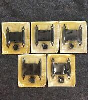 10 NOS National Lock Mid Century 3/8 Back Set Cabinet Door Hinges Black Retro F