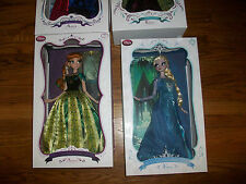 "Lot 7 Limited Edition November Disney Anna & Elsa Frozen Doll 17"" LE 2nd & 3rd"