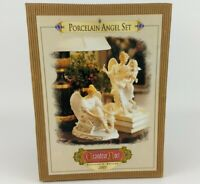 GRANDEUR NOEL COLLECTORS EDITION 2001 PORCELAIN ANGEL SET IN BOX