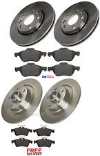 FOR RENAULT LAGUNA MK3 FRONT & REAR BRAKE DISCS & PADS WHEEL BEARINGS ABS RING