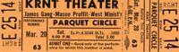 JAMES GANG~JOE WALSH 1971 THIRDS TOUR KRNT UNUSED ORANGE CONCERT TICKET-NM~MINT