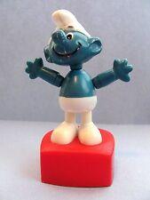 "Vintage Smurfs Smurf Helm Peyo Puppet Figure Dancing 4"" Doll Toy"