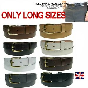 Mens Womens Belt Real Leather Casual Long Sizes Jeans Trouser UK Handmade Belt