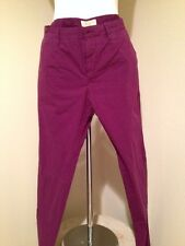 $195 NEW BURBERRY BRIT MENS CHINO Skinny PANTS Bright Violet US 36/33