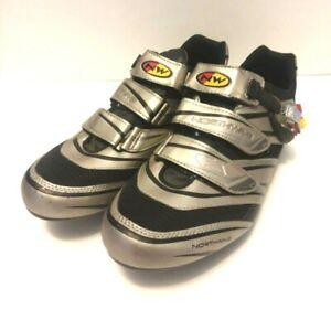 Mens Northwave Sport Cycling MTB Mountain Silver Biking Shoes Size 12 US 45 EU